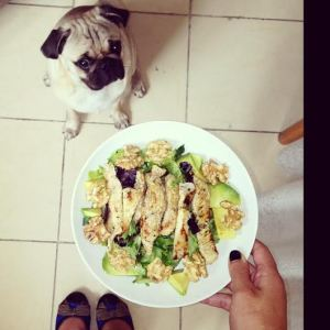 Mustard-Basil Grilled Chicken Salad