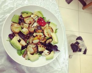 Balsamic Vinaigrette Grilled Veggies and Haloumi Salad