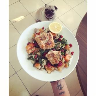 recipe salmon spinach
